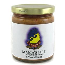 Mama's Fire hot sauce jar